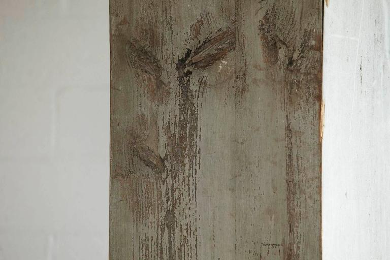 Distressed Tall Wooden Architectural Column with Patina For Sale 2