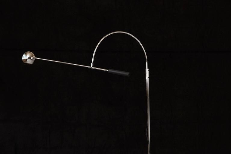 American Adjustable Chrome Floor Lamp 'Orbiter' by Robert Sonneman For Sale