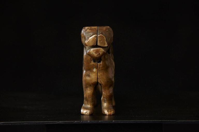 Antique Molded Brass Big Dog Nutcracker For Sale At 1stdibs