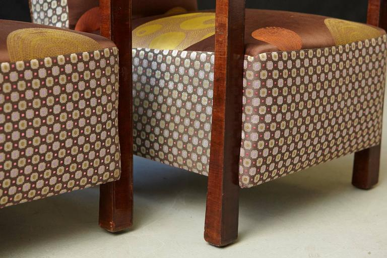 Pair of Argentinian Art Deco Lounge Chairs, Buenos Aires, ca 1930s For Sale 4