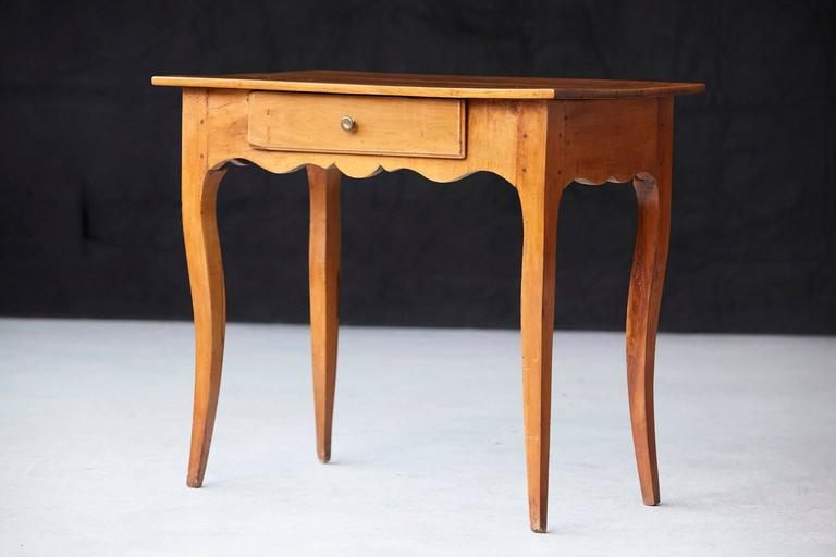 19th Century French Provincial Fruitwood Occasional Table In Good Condition For Sale In Westport, CT