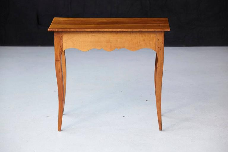 19th Century French Provincial Fruitwood Occasional Table For Sale 3
