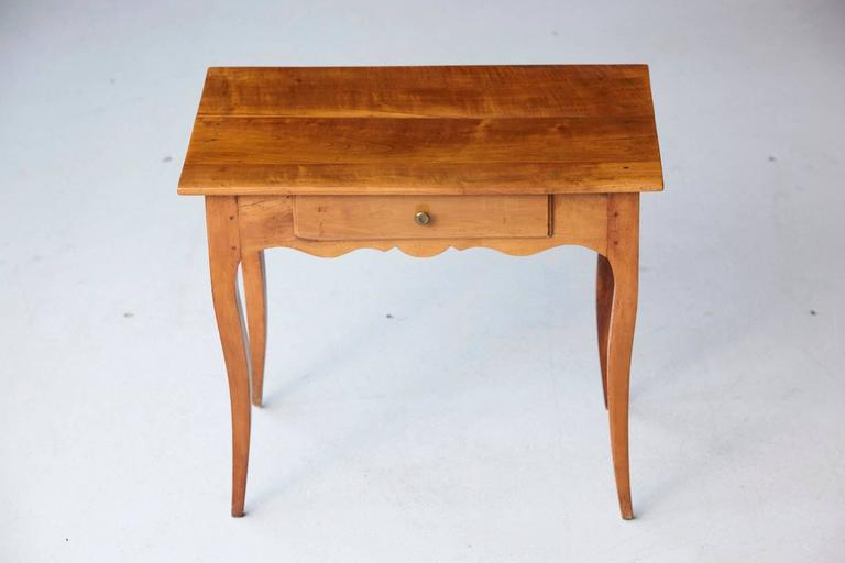 19th Century French Provincial Fruitwood Occasional Table For Sale 4