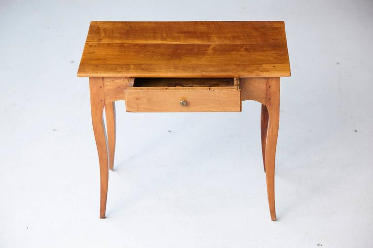 19th Century French Provincial Fruitwood Occasional Table For Sale 5