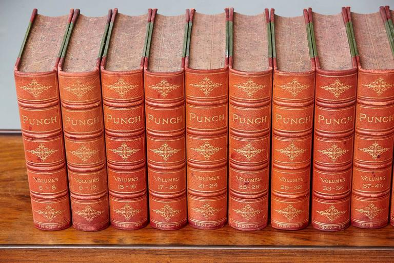 Set of 24 Leather Bound Volumes of Punch No 5-100 from the Estate of José Ferrer 4