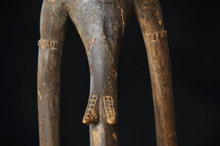 Carved African Wood Sculpture of a Woman 8