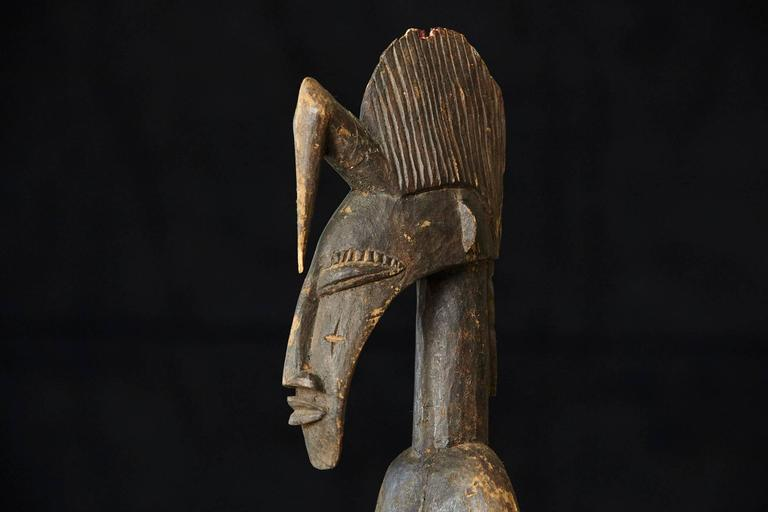 Carved African Wood Sculpture of a Woman 6