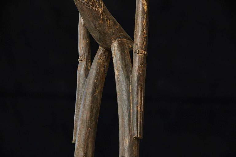 Carved African Wood Sculpture of a Woman 9