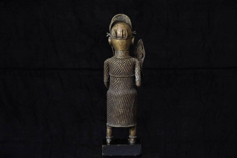 Beninese 19th Century Benin Bronze Sculpture of a Warrior For Sale