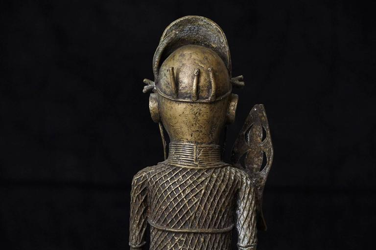Formica 19th Century Benin Bronze Sculpture of a Warrior For Sale