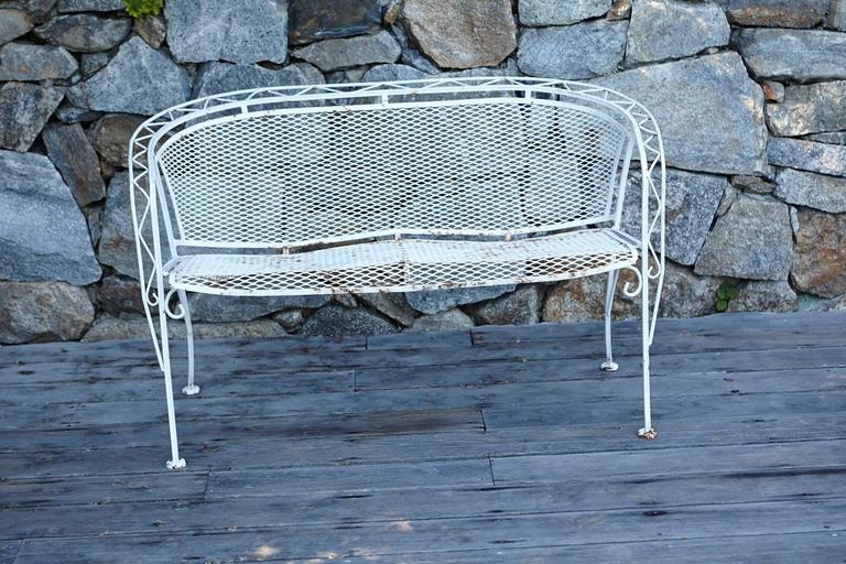 Mcm Salterini Style Iron Patio Set Six Chairs Loveseat