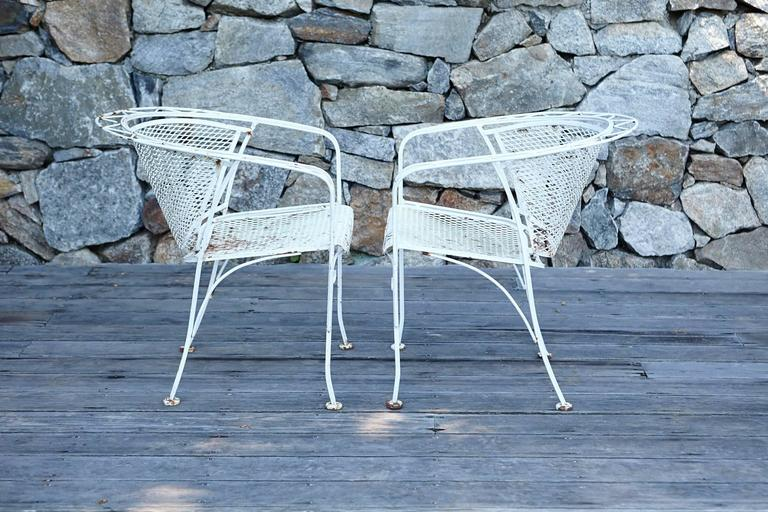 Mcm Salterini Style Iron Patio Set Six Chairs Loveseat And Dining Table At 1stdibs