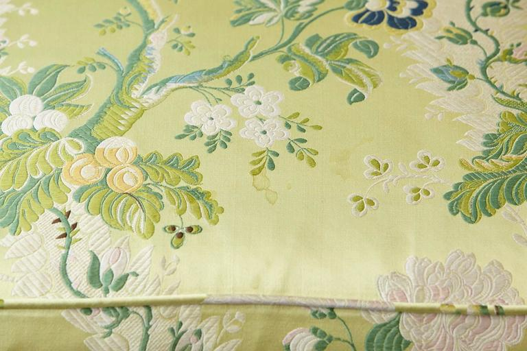 Pair of Lounge Chairs in Lime Green Floral Chintz from ABC For Sale 2