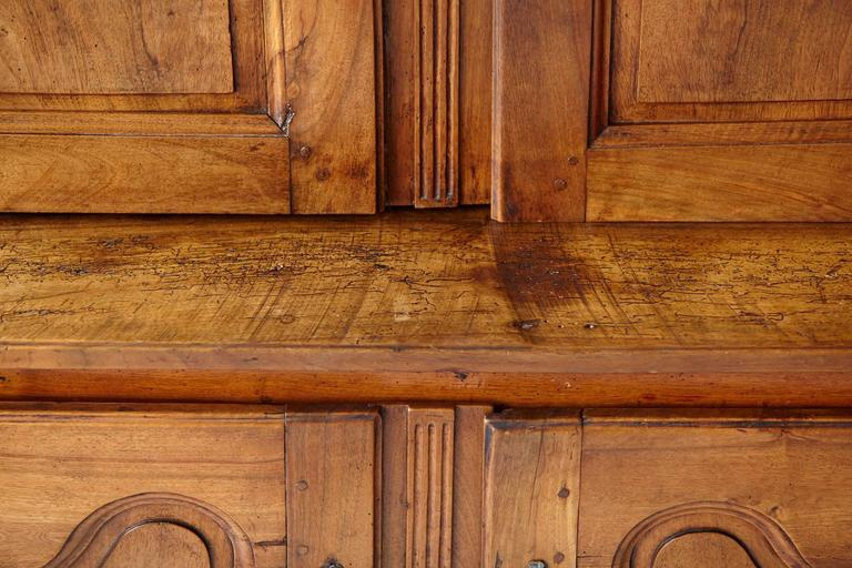 French 18th Century Louis XV Style Fruitwood Cabinet a Deux Corps For Sale 2
