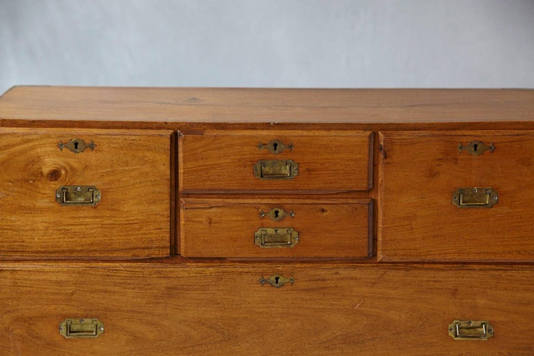 Late 19th Century English Campaign Chest of Drawers For Sale 3
