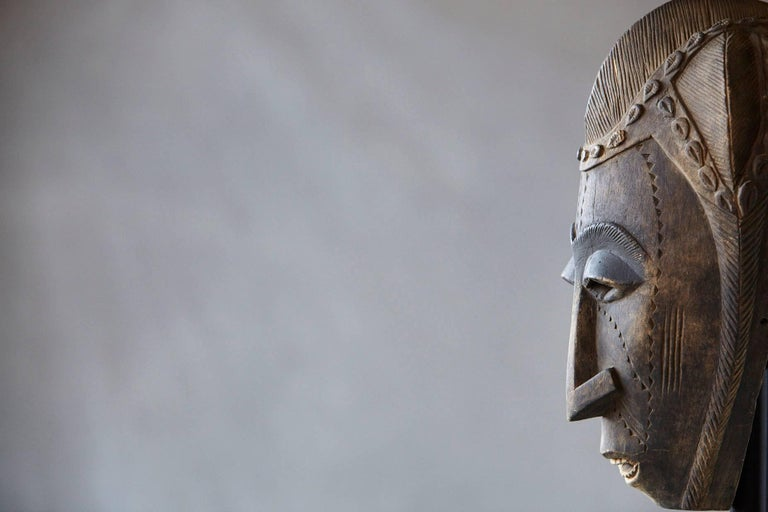 Decorative African Hand-Carved Wood Mask, circa 1960s For Sale 3