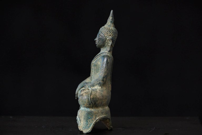 Possibly 15th-16th Century Bronze Thai Buddha Statue For Sale 2