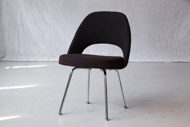 Mid-Century Modern Black Eero Saarinen Series 71 Armless Chair for Knoll International For Sale