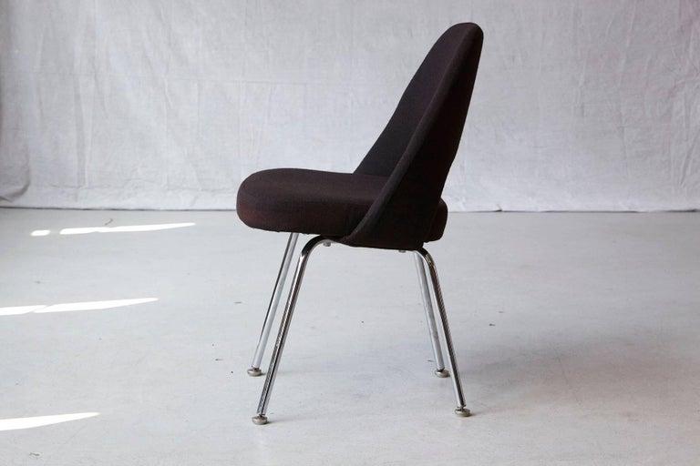 American Black Eero Saarinen Series 71 Armless Chair for Knoll International For Sale