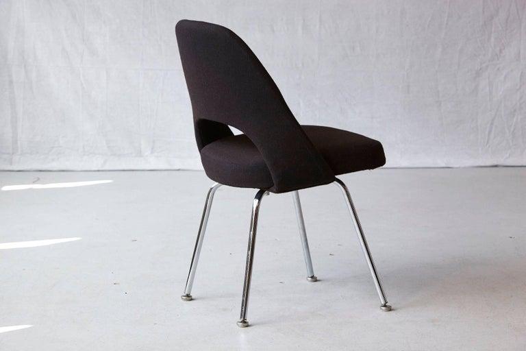 20th Century Black Eero Saarinen Series 71 Armless Chair for Knoll International For Sale