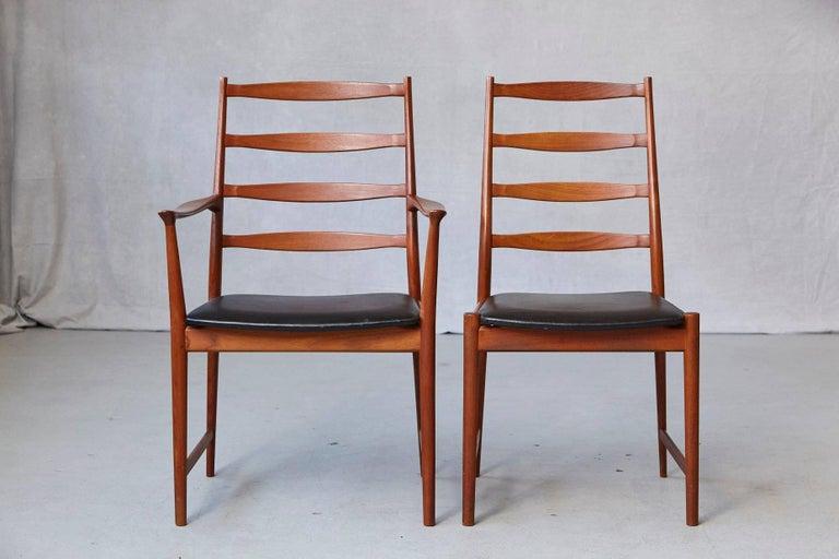 Danish Set of Six High Back Dining Chairs by Arne Vodder for Vamo Sonderborg For Sale