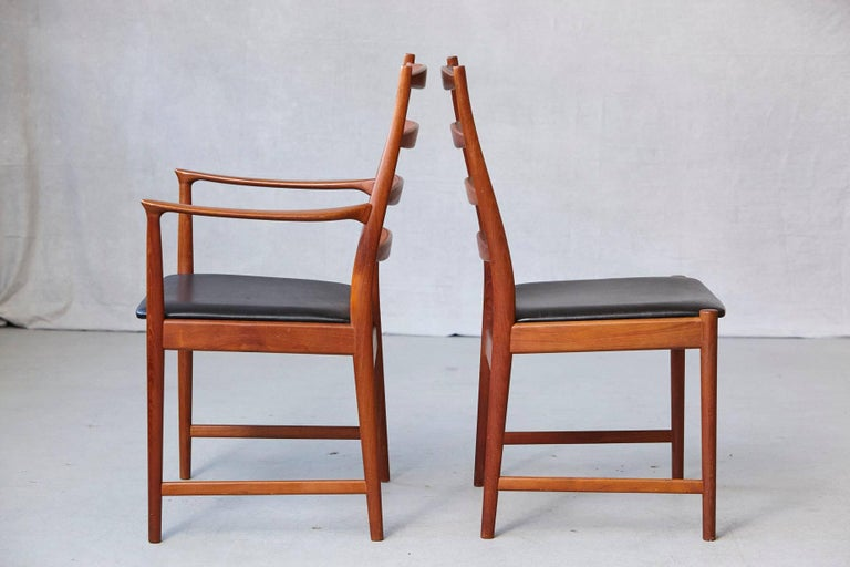 20th Century Set of Six High Back Dining Chairs by Arne Vodder for Vamo Sonderborg For Sale