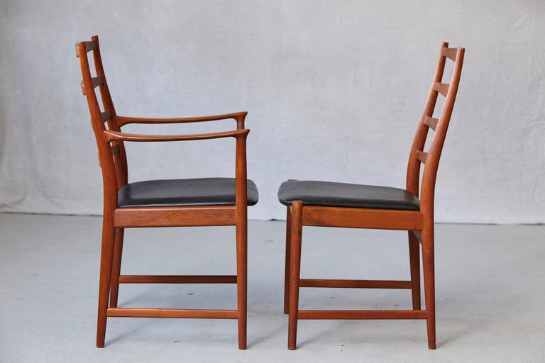 Set of Six High Back Dining Chairs by Arne Vodder for Vamo Sonderborg In Good Condition For Sale In Westport, CT