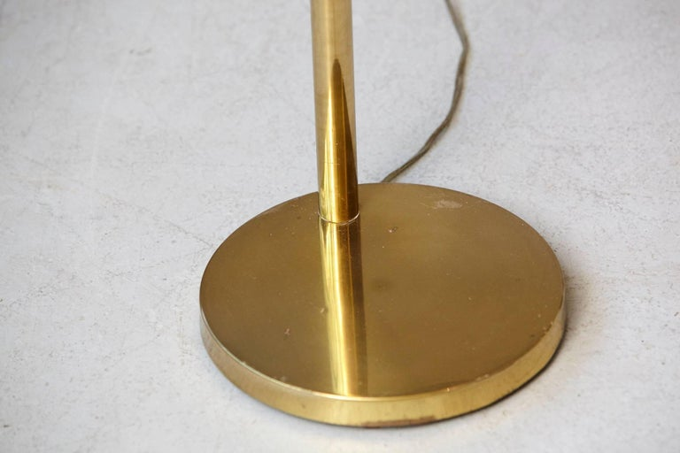 height adjustable brass swing arm floor lamp by koch and lowy at 1stdibs. Black Bedroom Furniture Sets. Home Design Ideas