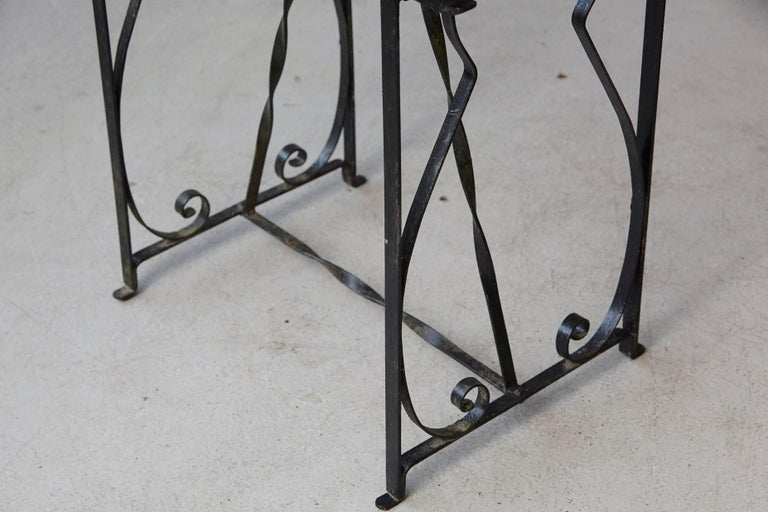 20th Century Black Wrought Iron Votive Candle Stand for 24 Candles For Sale