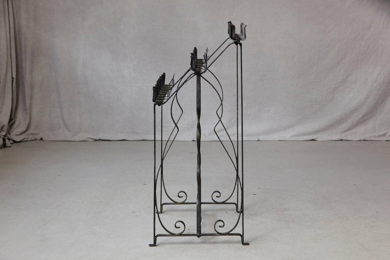 Black Wrought Iron Votive Candle Stand for 24 Candles For Sale 1