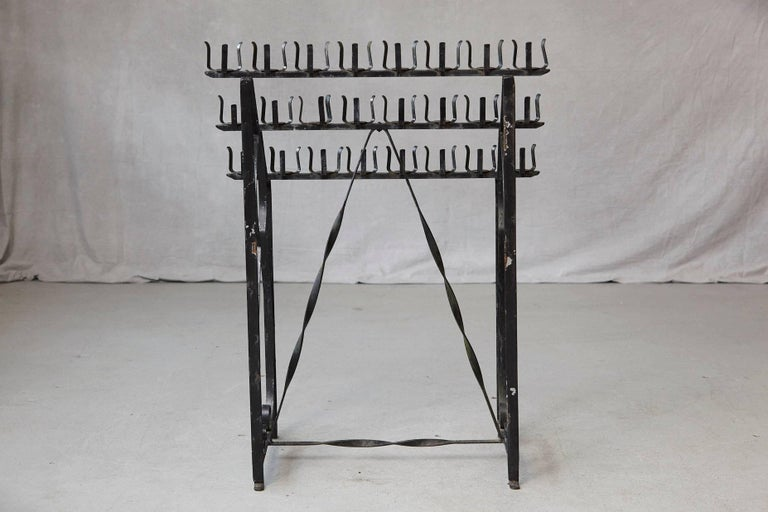 Black Wrought Iron Votive Candle Stand for 24 Candles For Sale 3