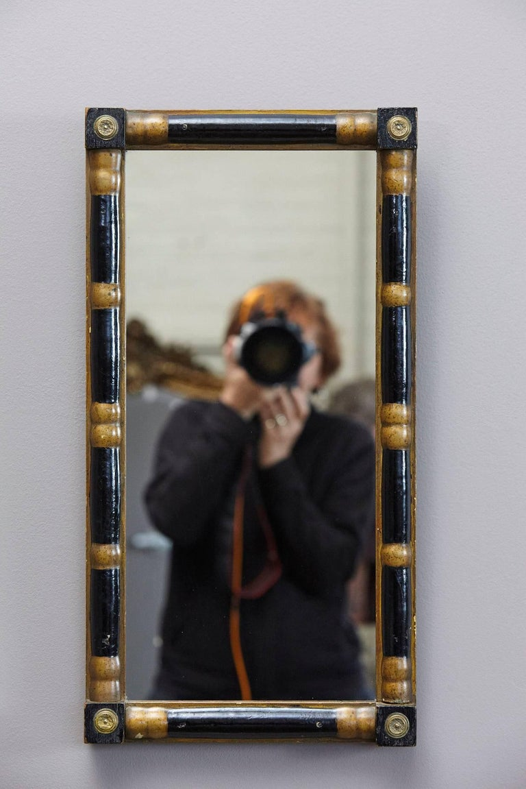 Early 20th century small black lacquer and gilt wall for Small wall mirrors for sale