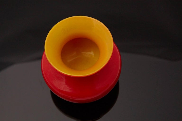 Louis Comfort Tiffany Favrile Cased Red Glass Miniature Vase, circa 1915 In Excellent Condition For Sale In Weston, CT
