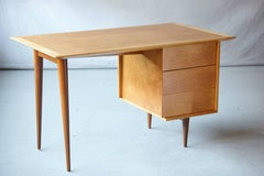 Rare Early Florence Knoll Maple Desk, Model 17 - Completely Restored