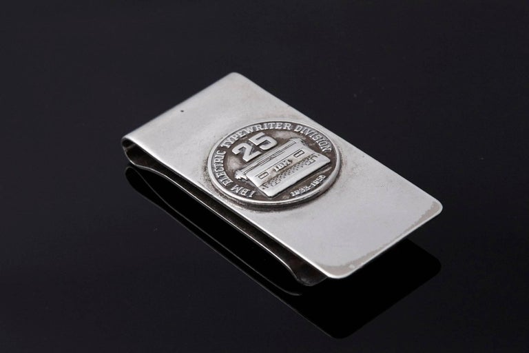 Sterling Money Clip, 25 Years IBM Electric Typewriter Division, 1933-1958 2