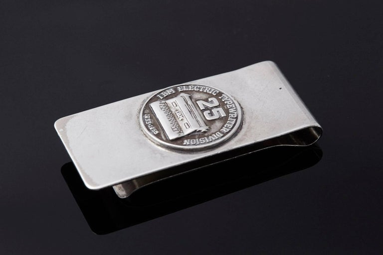 Sterling Money Clip, 25 Years IBM Electric Typewriter Division, 1933-1958 3