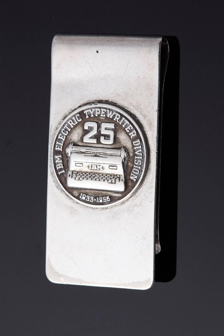 Sterling Money Clip, 25 Years IBM Electric Typewriter Division, 1933-1958 4