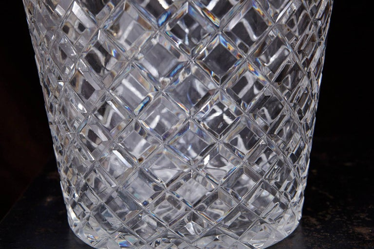 Belgian Crystal and Brass Ice Bucket, Saks Fifth Avenue's Guest and Gift, 1950s 5