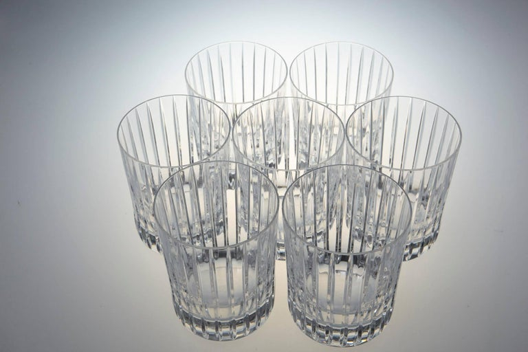 Set of Six Baccarat Harmonie #3 Single Old Fashion Crystal Tumblers For Sale 2