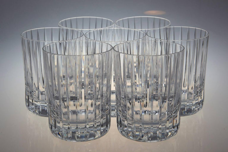 Set of Six Baccarat Harmonie #3 Single Old Fashion Crystal Tumblers For Sale 3