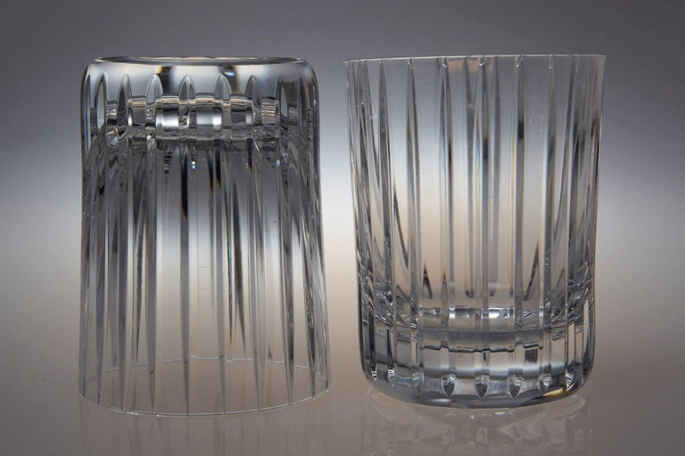 Set of Six Baccarat Harmonie #3 Single Old Fashion Crystal Tumblers 2