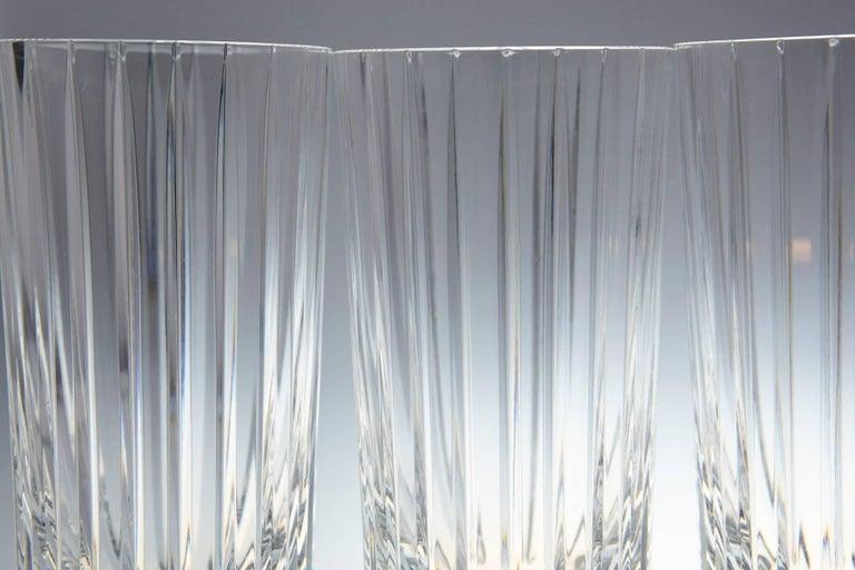 Mid-Century Modern Set of 14 Baccarat Harmonie Crystal Highball Glasses For Sale