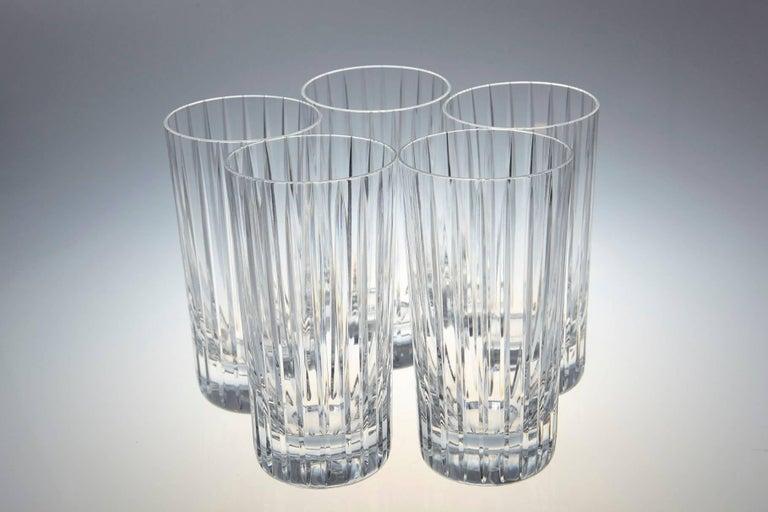 Set of 14 Baccarat Harmonie Crystal Highball Glasses For Sale 1