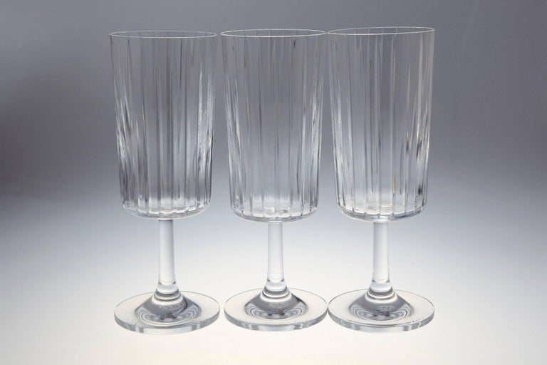 Rare Set of Six Baccarat Harmonie Crystal Water Goblets 2