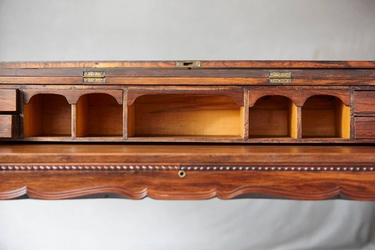 Early 20th Century Queen Anne Style Rosewood Spinet Desk For Sale 5