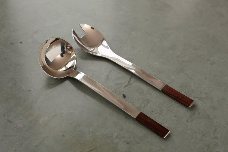Mid-20th Century Rosewood Flatware Service for 12 by Carl Auböck for Rosenthal For Sale