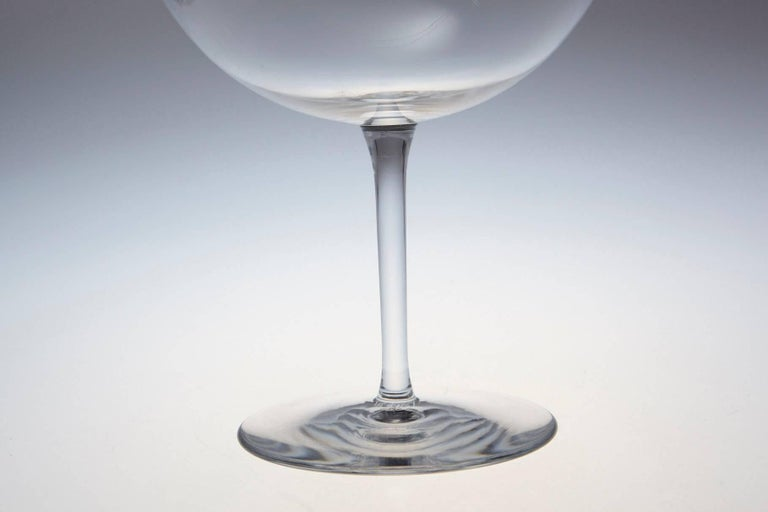 Contemporary Pair of Baccarat Crystal 'Dégustation Romanée Conti' Tasting Wine Glasses For Sale