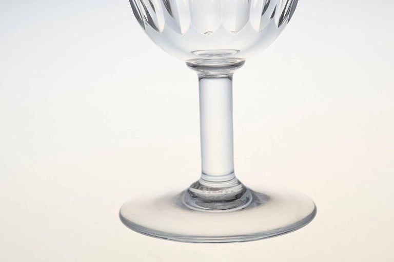 Set of Six Baccarat Crystal 'Lorraine' Pattern Red Wine Glasses, circa 1950s For Sale 2