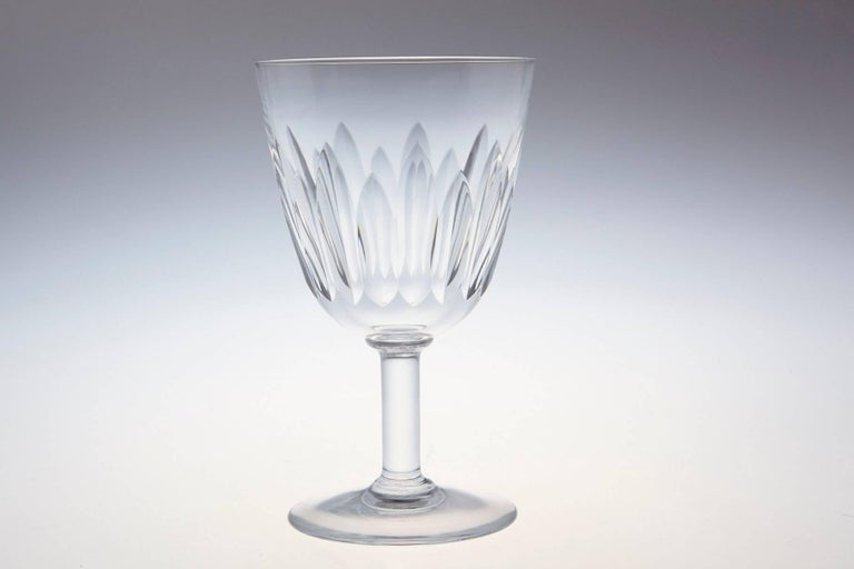 Set of Six Baccarat Crystal 'Lorraine' Pattern Red Wine Glasses, circa 1950s In Excellent Condition For Sale In Westport, CT