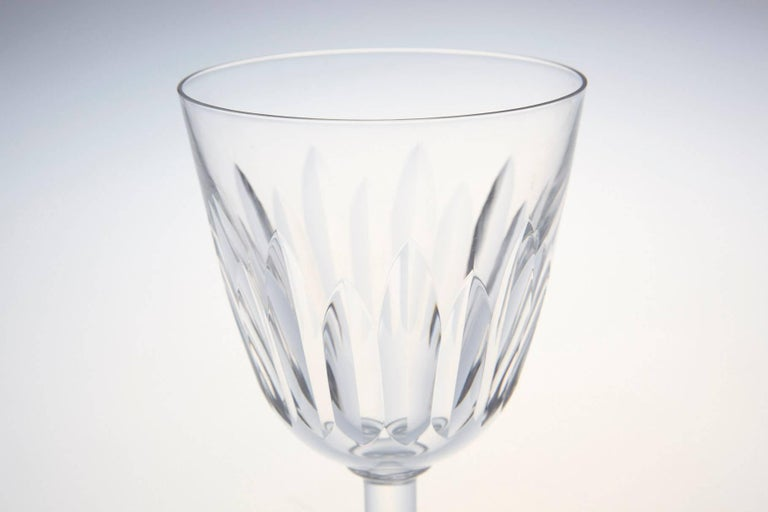 Mid-20th Century Set of Six Baccarat Crystal 'Lorraine' Pattern Red Wine Glasses, circa 1950s For Sale